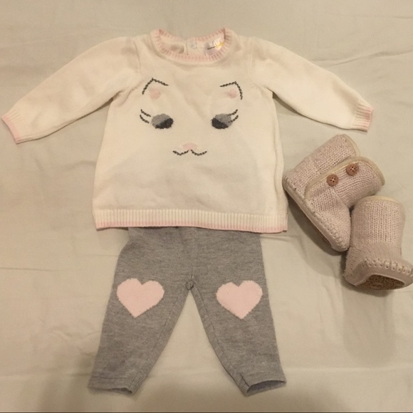 Bloomingdales baby outfit uggs baby boots.